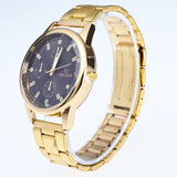 Diamond Dial Steel Analog Quartz Men Wrist Watch