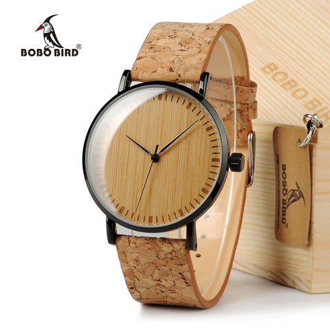 BOBO BIRD Ultra Thin Bamboo Wooden Watch