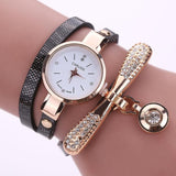 Quartz Luxury Rhinestone Bracelet Watch