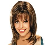 Micro Volume Natural Long Synthetic Hair Wig for Women