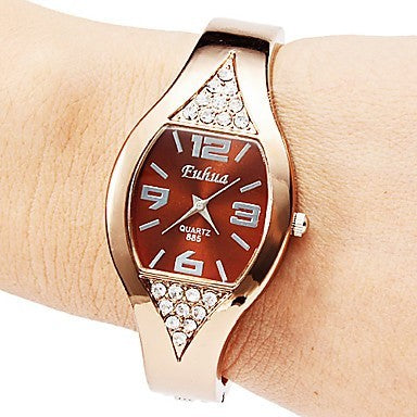 Women Alloy Strap High Quality Fashion Oval Watch