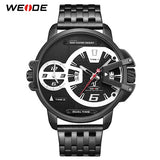 WEIDE Sport Military Stainless Steel Wrist Watch