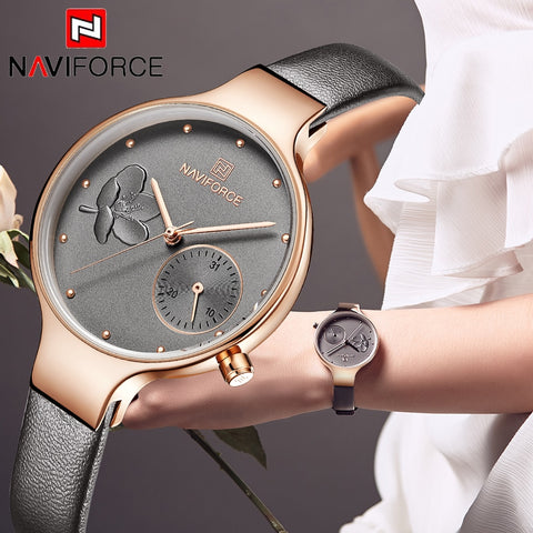 NAVIFORCE Women Fashion Brand Quartz Watch