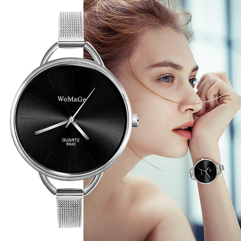 WoMaGe Brand Fashion Luxury Women Pointer Watch