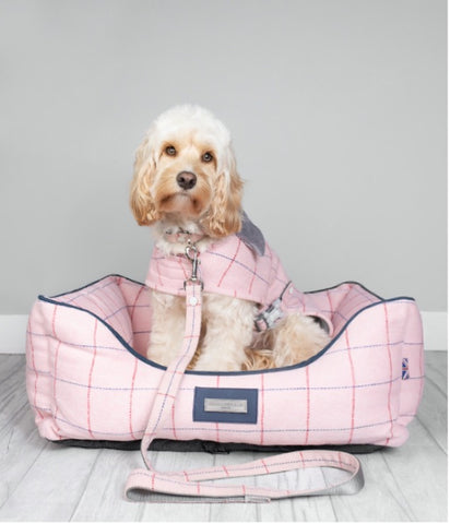 Lottie pretty in pink checked tweed design