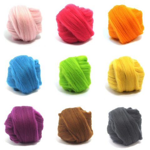 Dyed Merino Batt (18.5 micron) - Solid Colour