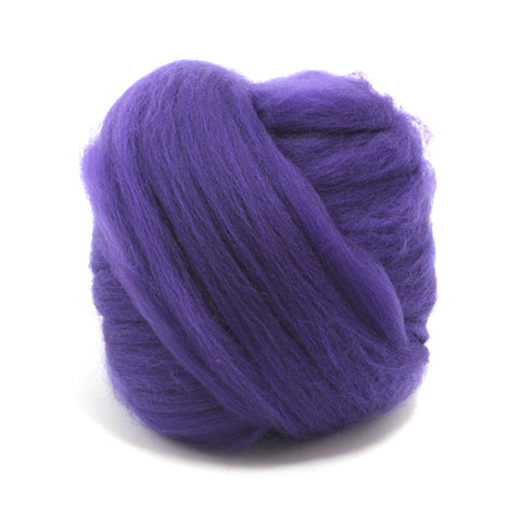 Amethyst Dyed Merino Tops