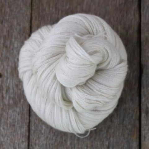 Undyed Baby Alpaca/Silk/Cashmere Yarn - 2-ply (lace-weight)