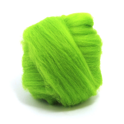 Chartreuse Dyed Merino Tops