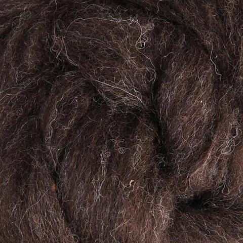 Corriedale Batt - Dark Natural