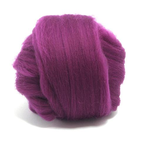 Damson Dyed Superfine Merino Tops