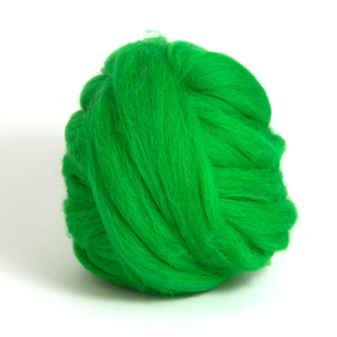 Emerald Dyed Merino Tops