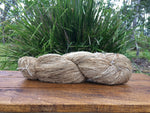 Organic Tussar Silk - Handspun Yarn (single-ply)