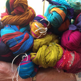 Silk Ribbon Yarn - Chiffon Recycled Sari