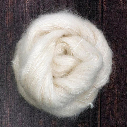 Kid Mohair/Mulberry Silk Yarn - Undyed