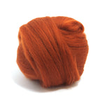 Rust Dyed Merino Tops