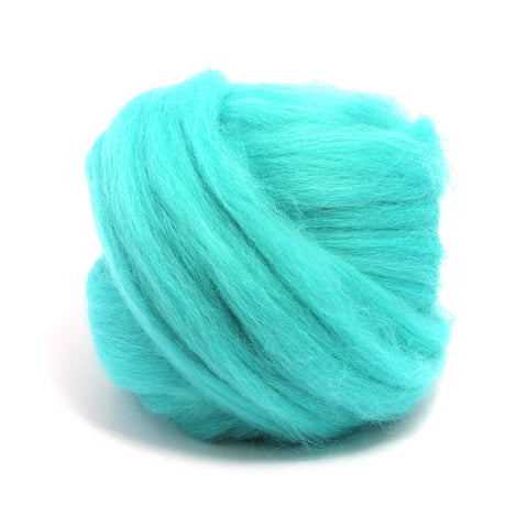 Spearmint Dyed Merino Tops