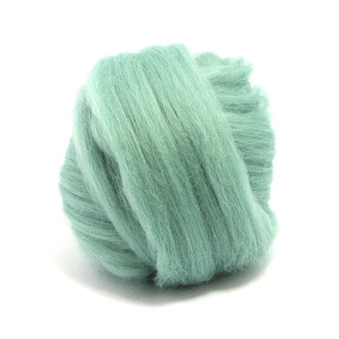 Teal Dyed Merino Tops