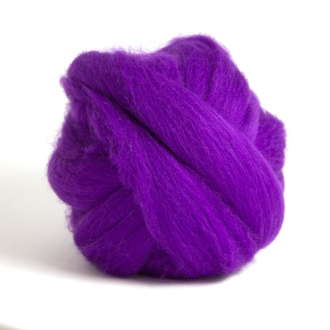 Violet Dyed Merino Tops