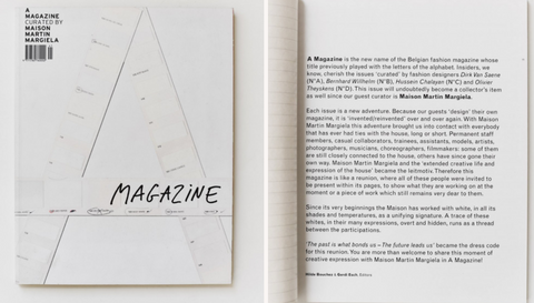 A magazine curated by 1 Maison Martin Margiela