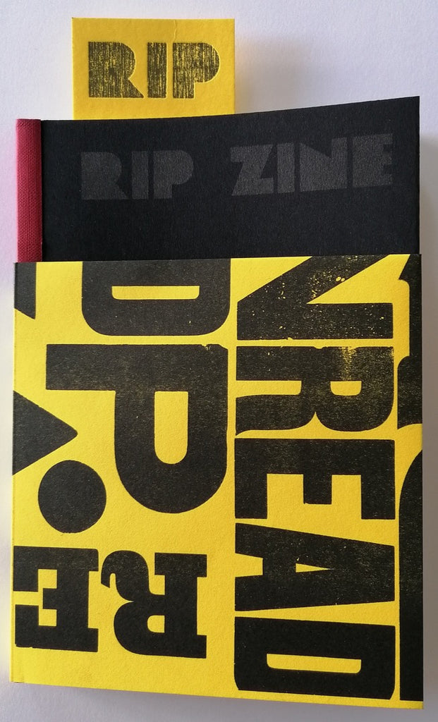 Rip zine by Raw print