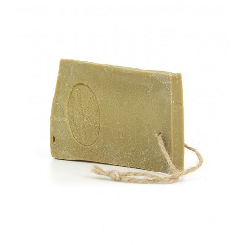 Olive oil Marseille soap slice on rope green slice 300g - SoapYard