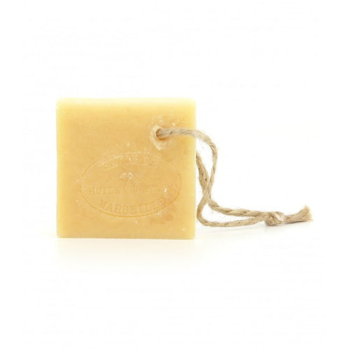 Slice of Marseille soap on rope 150g - SoapYard
