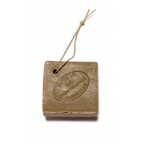Olive oil Marseille soap on rope green slice 150g - SoapYard