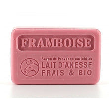 Charger l'image dans la galerie, Raspberry with organic donkey milk  100g (not vegan) - SoapYard