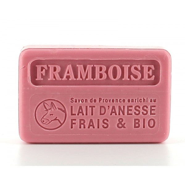 Raspberry with organic donkey milk  100g (not vegan) - SoapYard