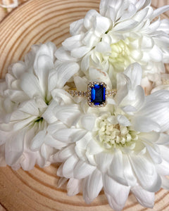 18k Sapphire and Diamond Ring