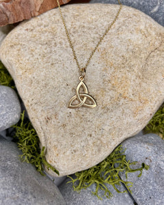 9ct Yellow Gold Mini Trinity Pendant
