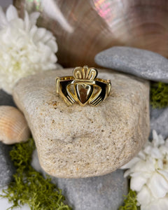 18ct Heavy Yellow Gold Claddagh Ring