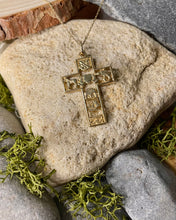 Load image into Gallery viewer, Story of Galway 9ct Gold Open Cross