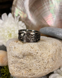 Story of Galway Black Rhodium Open Back Ring