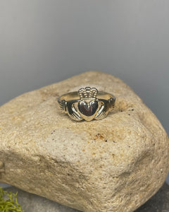 Heavy Sterling Silver Claddagh Ring