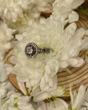 Load image into Gallery viewer, Black Diamond Halo Engagement Ring
