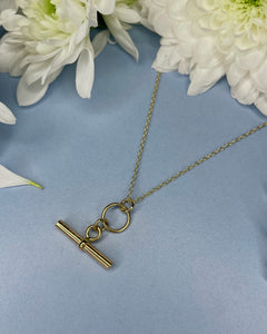 Gold T-bar Pendant