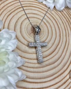 18ct Diamond Cross
