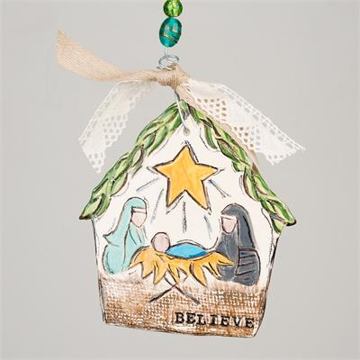 Nativity Flat Ornament