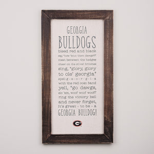 uga decorations wooden sign