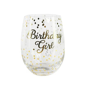 """Birthday Girl"" Wine Glass"