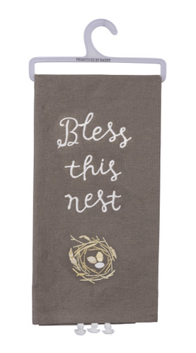 Bless This Nest Dish Towel