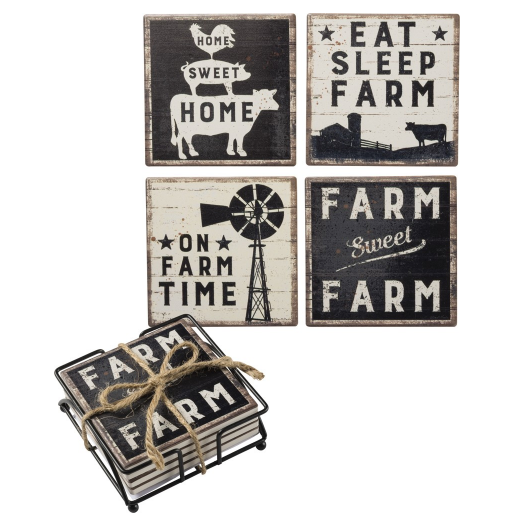 Farm Sweet Farm Coaster Set