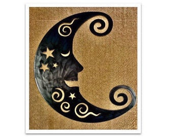 Man in the moon wall decor