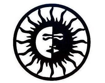 Sun/Moon Metal Wall Art