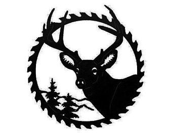 Buck Mountain Saw blade - Deer Metal Wall Art