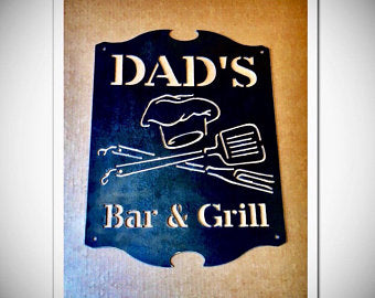 Bar Metal Wall Art