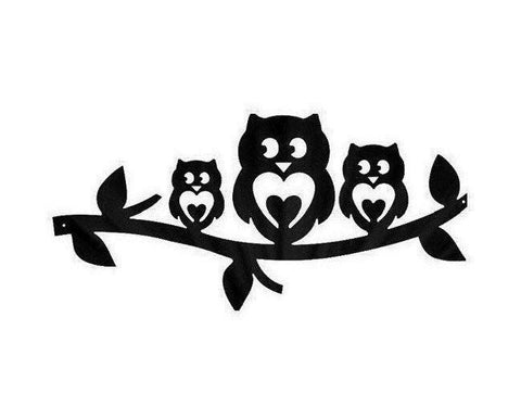 Love Owl Trio - Metal Wall Art