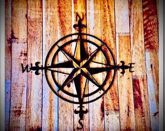 Metal Compass Wall Art